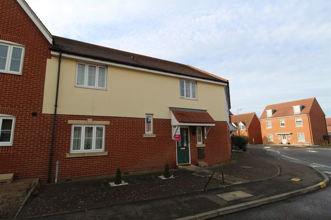 Thumbnail Terraced house for sale in Gratian Close, Highwoods, Colchester