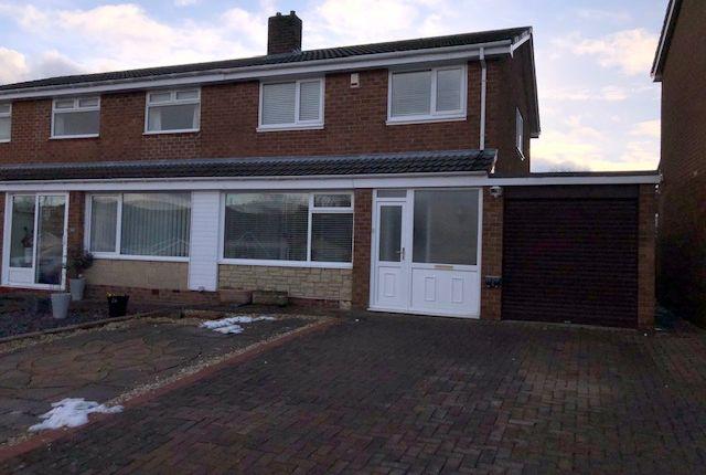 Thumbnail Semi-detached house to rent in Alderside Crescent, Lanchester, Co Durham