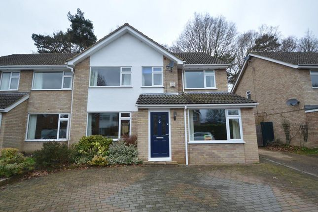 Thumbnail Semi-detached house for sale in Foxcote, Finchampstead