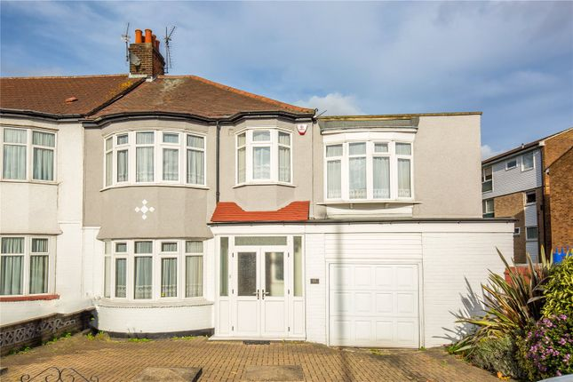 Thumbnail End terrace house for sale in Hedge Lane, Palmers Green, London