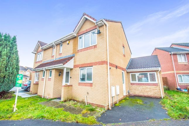 Thumbnail Semi-detached house for sale in Pearce Close, St. Mellons, Cardiff