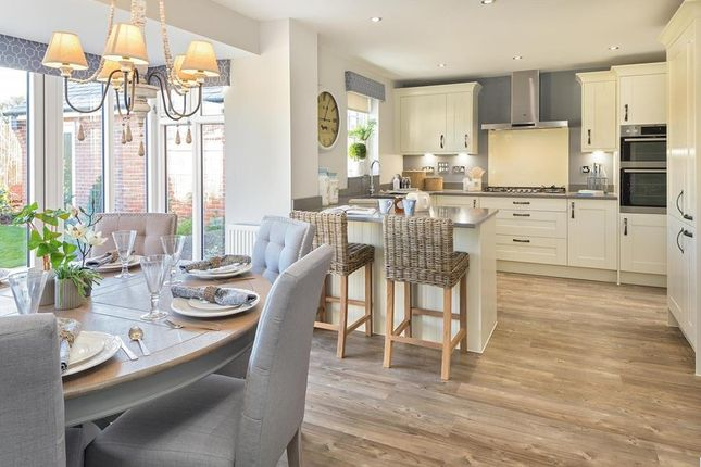 Open-Plan Kitchen With Family/Dining Area And Glazed-Bay/French Doors