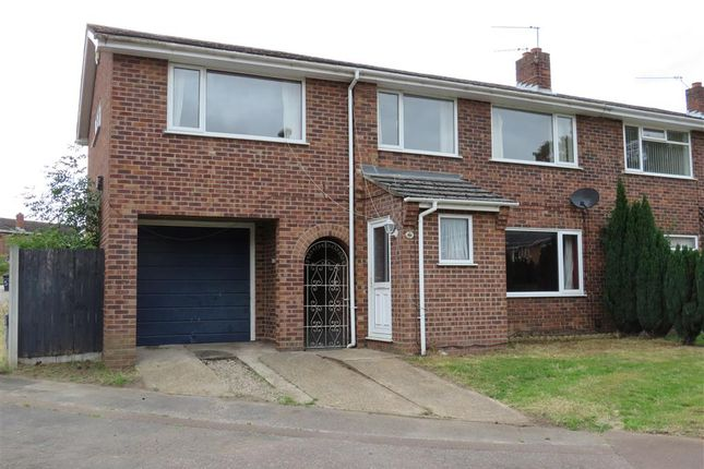 Thumbnail Semi-detached house for sale in Leng Crescent, Norwich