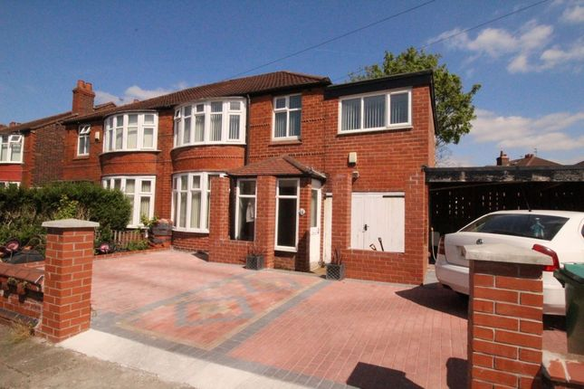Thumbnail Semi-detached house for sale in Ashdene Road, Withington, Manchester