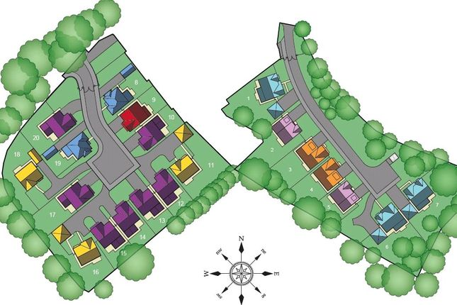 Site Plan of Moss Lea Park, Moss Lea, Bolton BL1