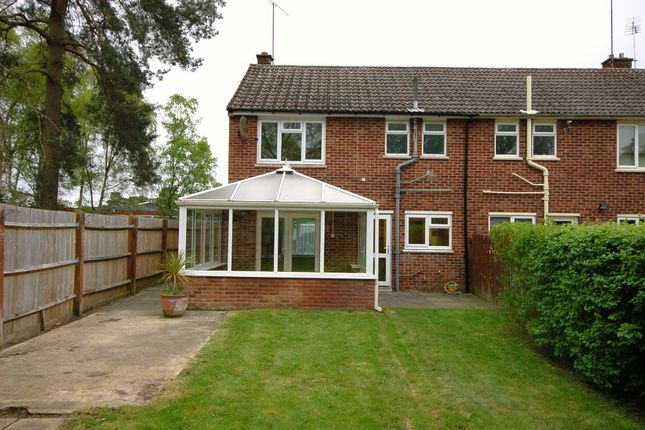 Thumbnail End terrace house to rent in Ballard Road, Camberley