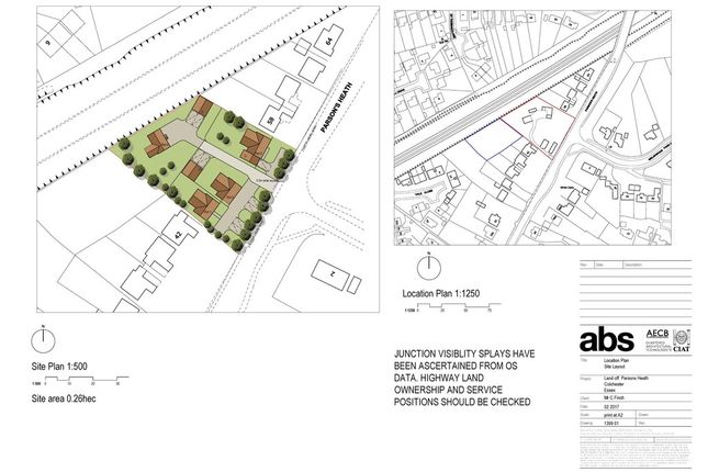 Thumbnail Land for sale in Parsons Heath, Colchester