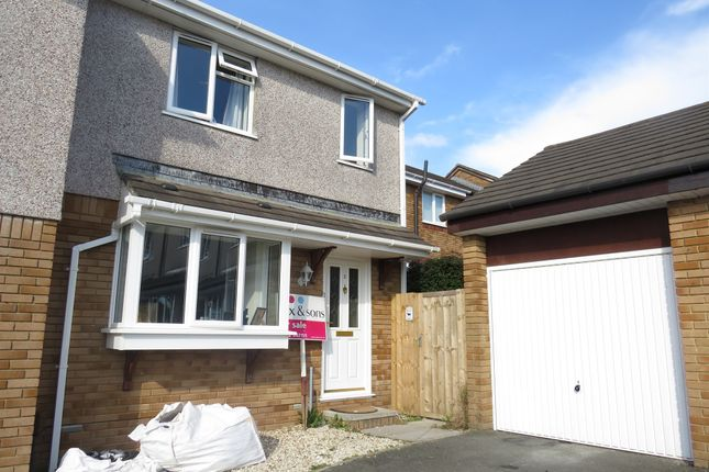 Thumbnail Semi-detached house for sale in Hallett Close, Latchbrook, Saltash