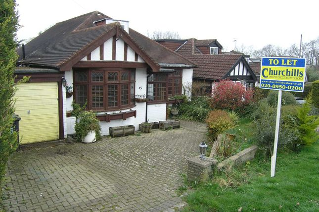 Thumbnail Detached bungalow to rent in Caldecote Gardens, Bushey
