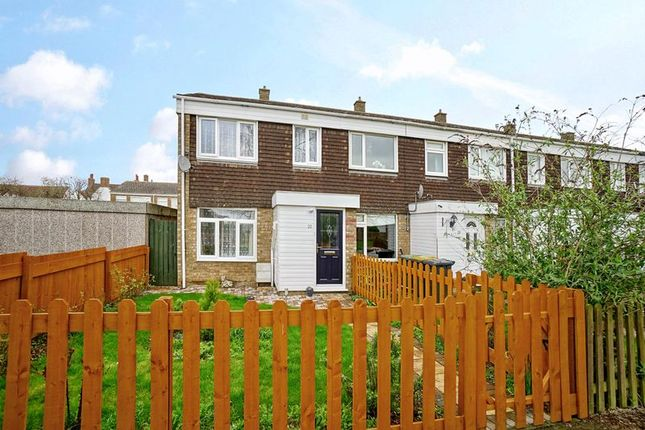 Thumbnail End terrace house for sale in Pyms Close, Great Barford, Bedford