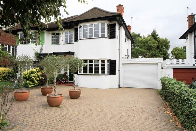 Thumbnail Semi-detached house for sale in Rushdene Road, Pinner