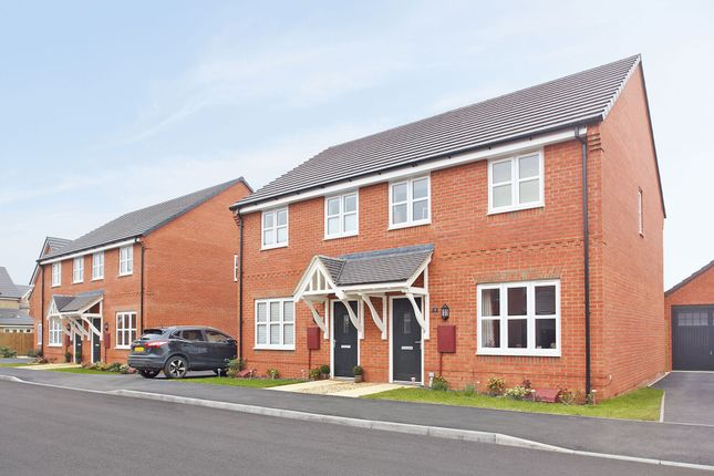 """Thumbnail Semi-detached house for sale in """"The Studland"""" at Stocks Lane, Winslow, Buckingham"""