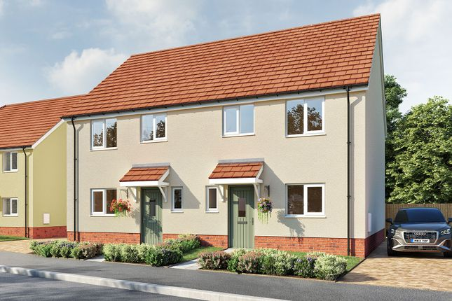 """Thumbnail Semi-detached house for sale in """"The Eveleigh"""" at Aller Mead Way, Williton, Taunton"""