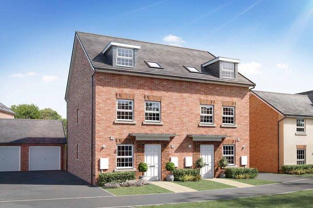 "Thumbnail Semi-detached house for sale in ""Norbury"" at Briggington, Leighton Buzzard"