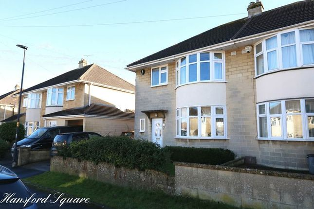 Semi-detached house for sale in Hansford Square, Combe Down, Bath