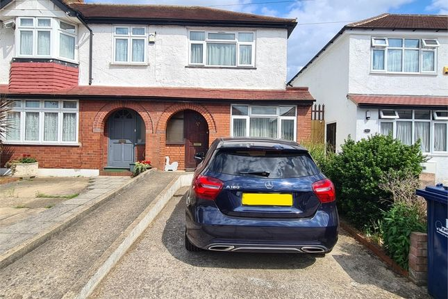Thumbnail End terrace house to rent in Lynmouth Road, Perivale, Greenford, Greater London