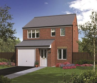 "Thumbnail Detached house for sale in ""The Rufford "" at Rothbury Drive, Ashington"