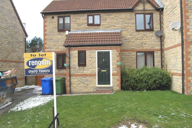 Thumbnail Semi-detached house to rent in Beech Avenue, The Pastures, Cramlington