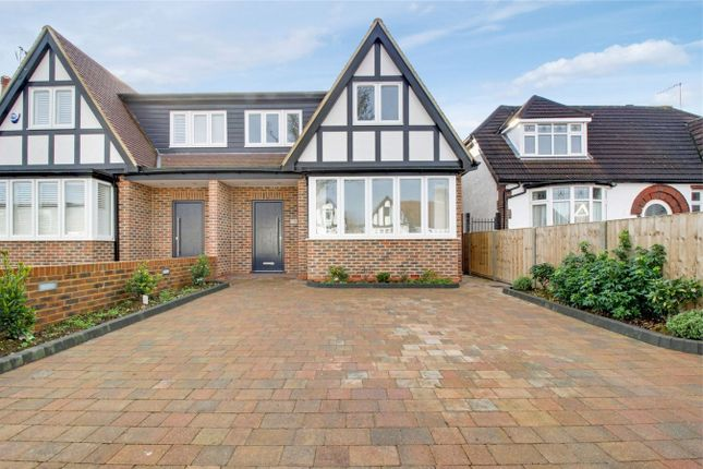 Thumbnail Semi-detached house for sale in Manorway, Bush Hill Park, Greater London