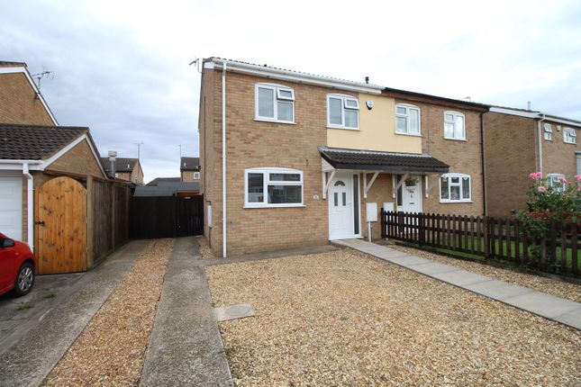 Thumbnail Semi-detached house for sale in Mallows Drive, Raunds