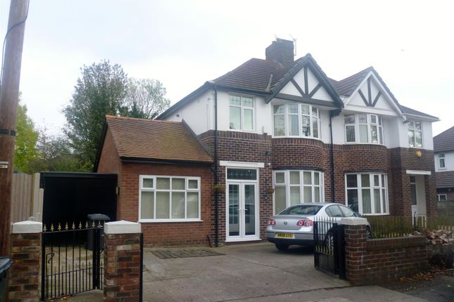 Thumbnail Semi-detached house to rent in St. Georges Crescent, Salford