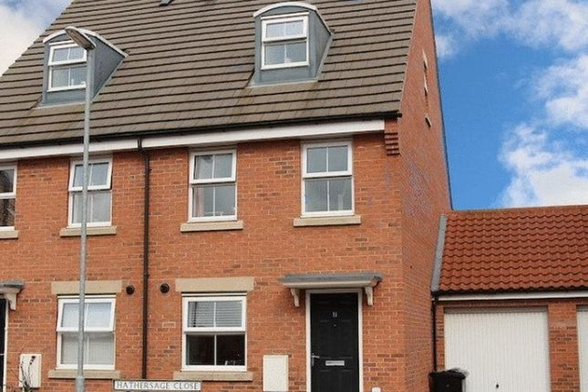 Thumbnail Semi-detached house to rent in Hathersage Close, Grantham