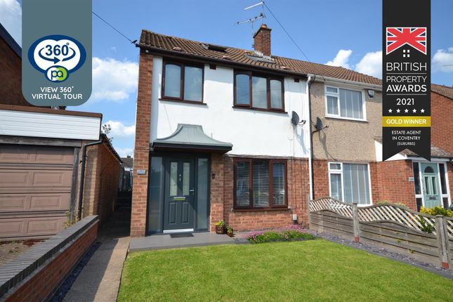 Thumbnail Semi-detached house for sale in Yewdale Crescent, Potters Green, Coventry