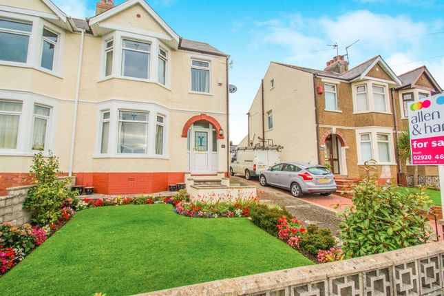 Thumbnail Semi-detached house for sale in Uplands Road, Rumney, Cardiff