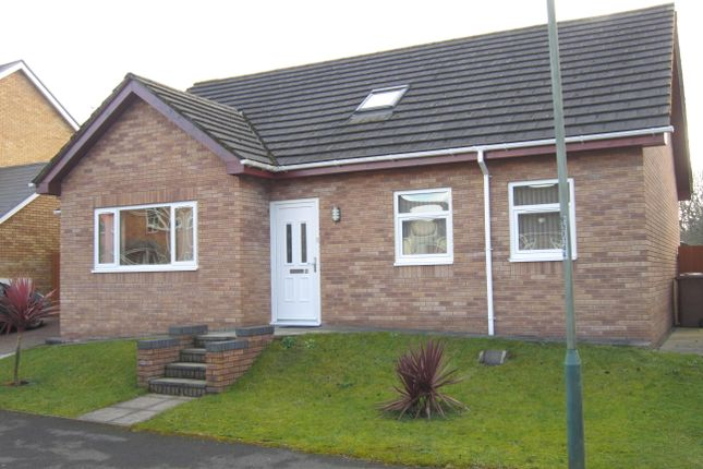 Thumbnail Detached bungalow for sale in Herons View, Pengam