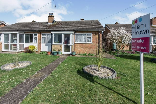 Thumbnail Semi-detached bungalow for sale in Chestnut Close, Stowupland, Stowmarket