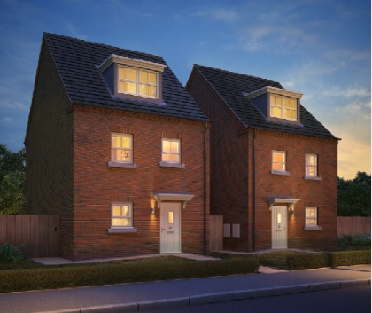 Thumbnail Semi-detached house for sale in The Rosas, Resevoir Road, Burton Upon Trent, Staffordshire