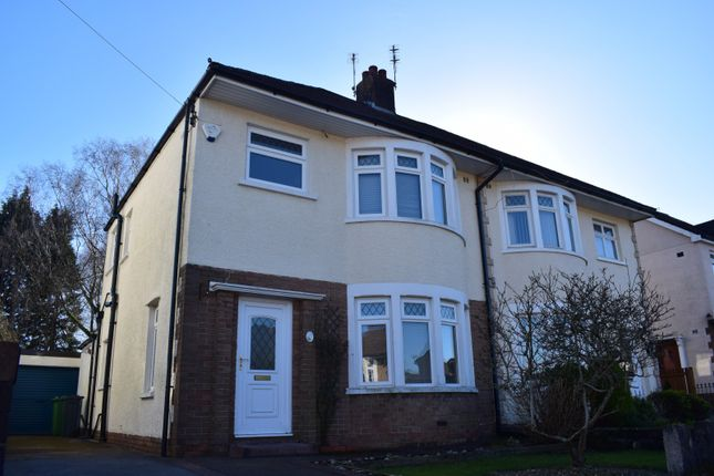 Thumbnail Semi-detached house to rent in Heol Iscoed, Rhiwbina, Cardiff