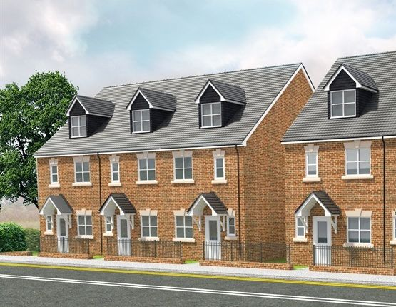 Thumbnail Town house for sale in Peel Street Villas, Langley Mill, Nottingham