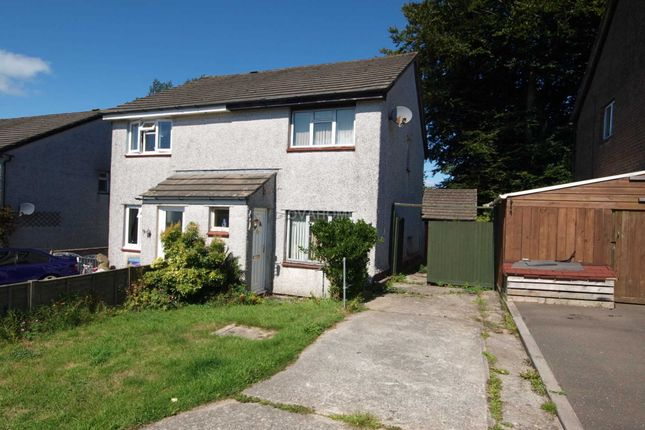 Thumbnail Semi-detached house for sale in Willow Close, Callington