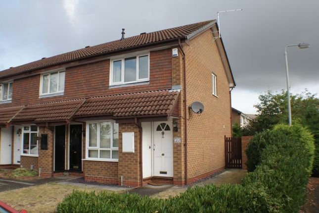 Thumbnail End terrace house to rent in Shackleton Way, Woodley, Reading