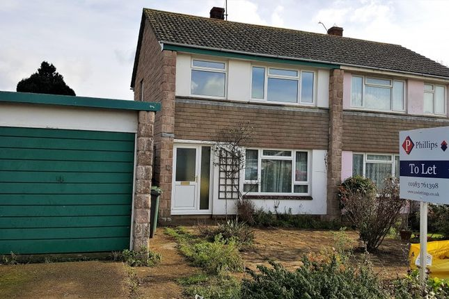 Thumbnail Semi-detached house to rent in Wilberforce Road, Brighstone, Newport