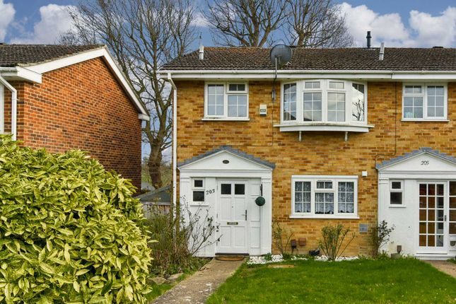 Thumbnail End terrace house to rent in Gilders Road, Chessington