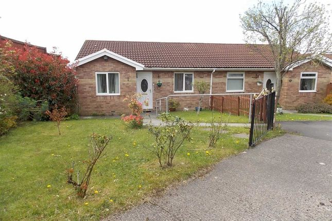 Thumbnail Semi-detached bungalow for sale in Ffordd Catraeth, Cilfynydd, Pontypridd