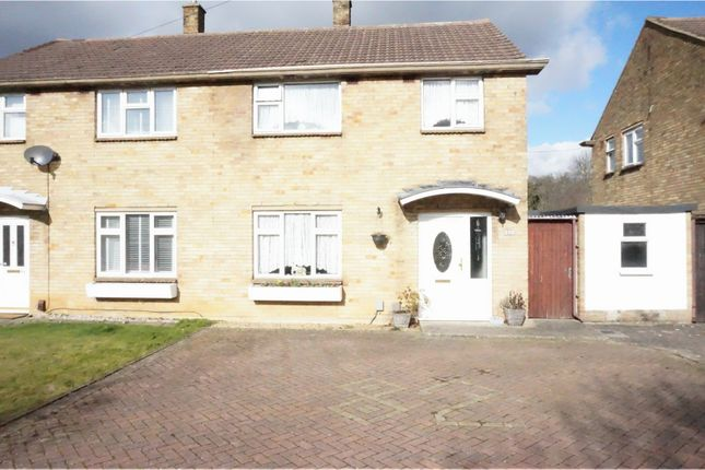 Thumbnail Semi-detached house for sale in Burford Way, Hitchin