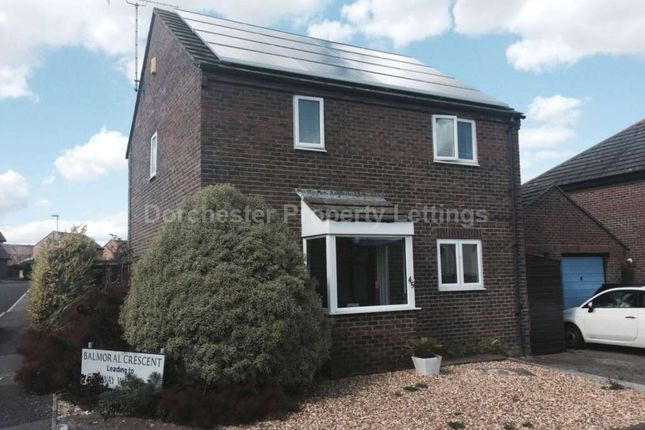 Thumbnail Link-detached house to rent in Balmoral Crescent, Dorchester