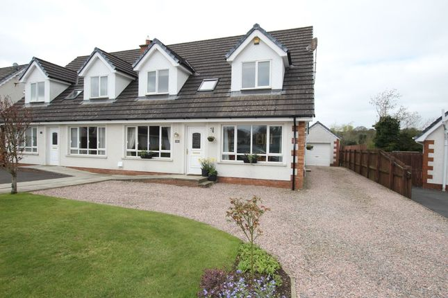 Thumbnail Semi-detached house for sale in Hydepark Manor, Newtownabbey