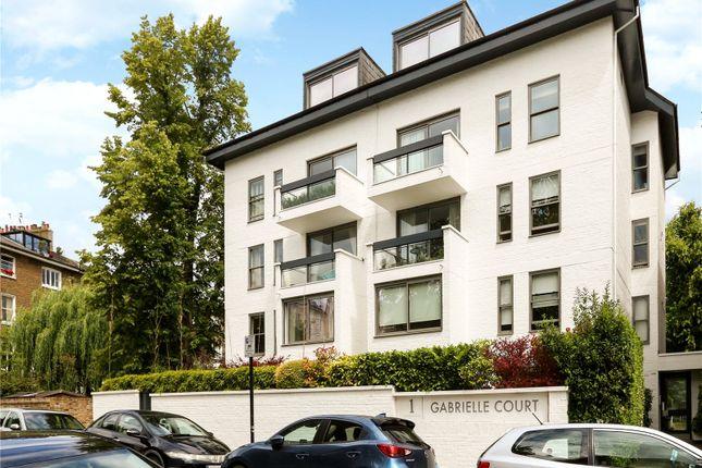Exterior of Gabrielle Court, 1-3 Lancaster Grove, Belsize Park, London NW3