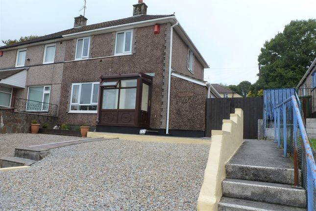 Thumbnail Semi-detached house for sale in Budshead Road, Crownhill, Plymouth