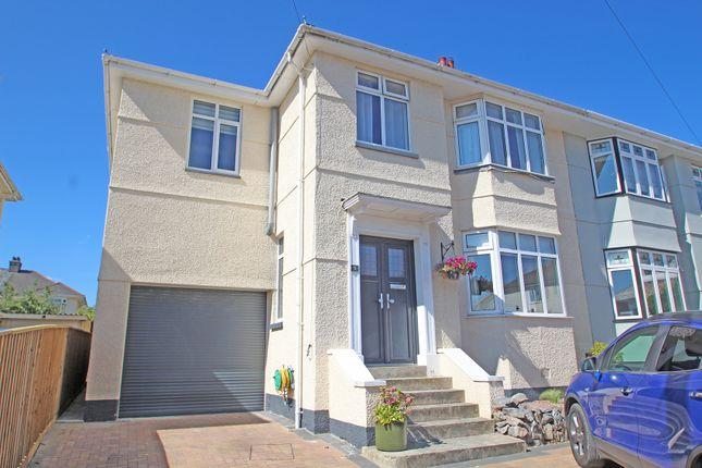 Thumbnail Semi-detached house for sale in Venn Gardens, Hartley, Plymouth