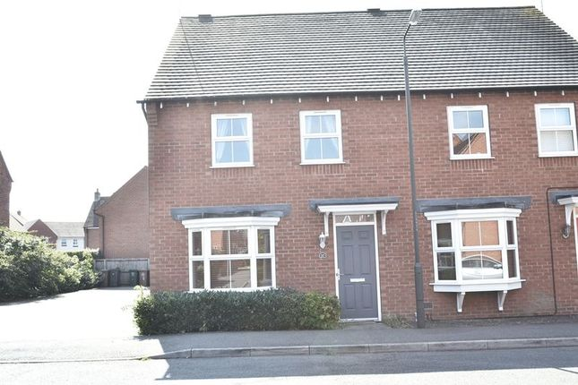 Thumbnail Semi-detached house to rent in Greenwich Avenue, Church Gresley, Swadlincote