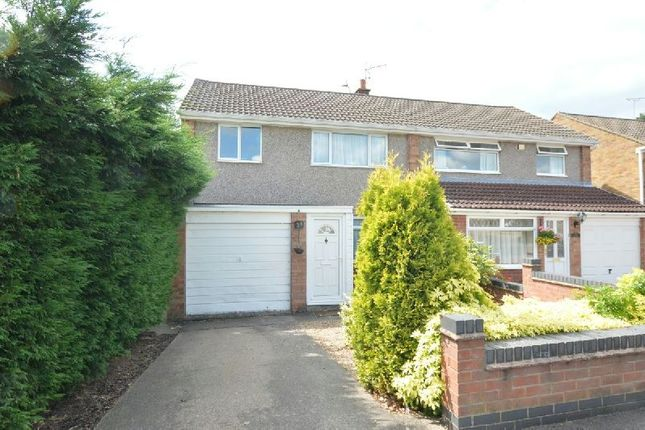 Thumbnail Semi-detached house for sale in The Bridle, Glen Parva, Leicester