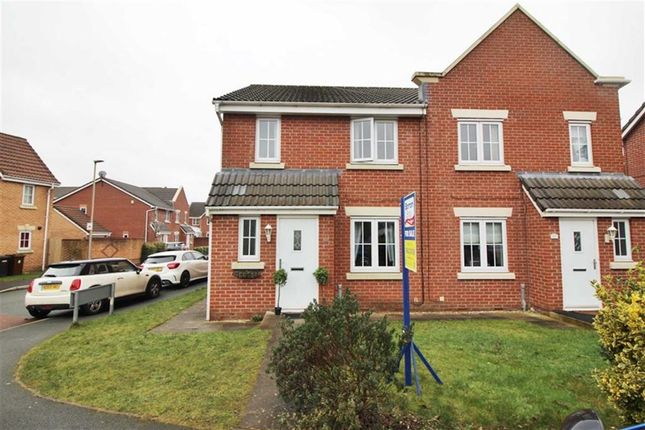 Thumbnail Semi-detached house for sale in Chatsworth Fold, Springview, Wigan