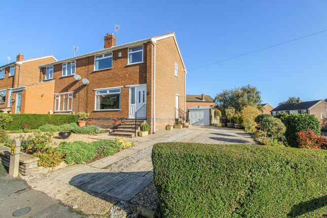 Thumbnail 3 bed semi-detached house for sale in Broomfield Avenue, Hasland, Chesterfield