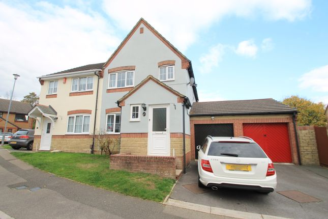 Thumbnail Semi-detached house for sale in Clover Walk, Latchbrook, Saltash