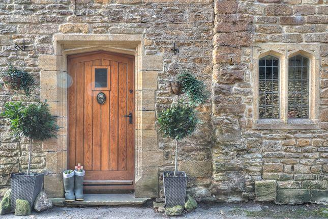 Entrance And Stone Mullion Window
